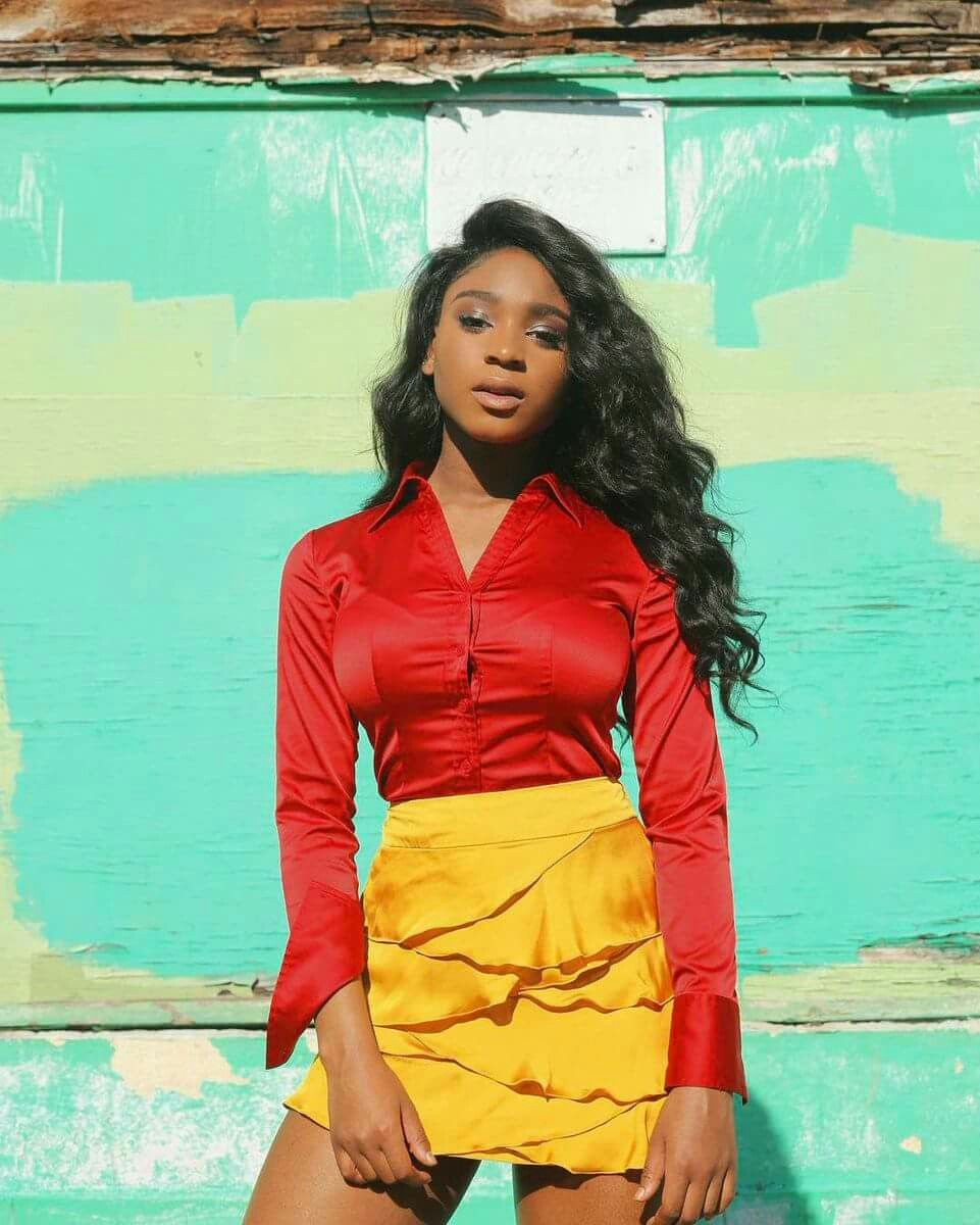 Image result for normani in red