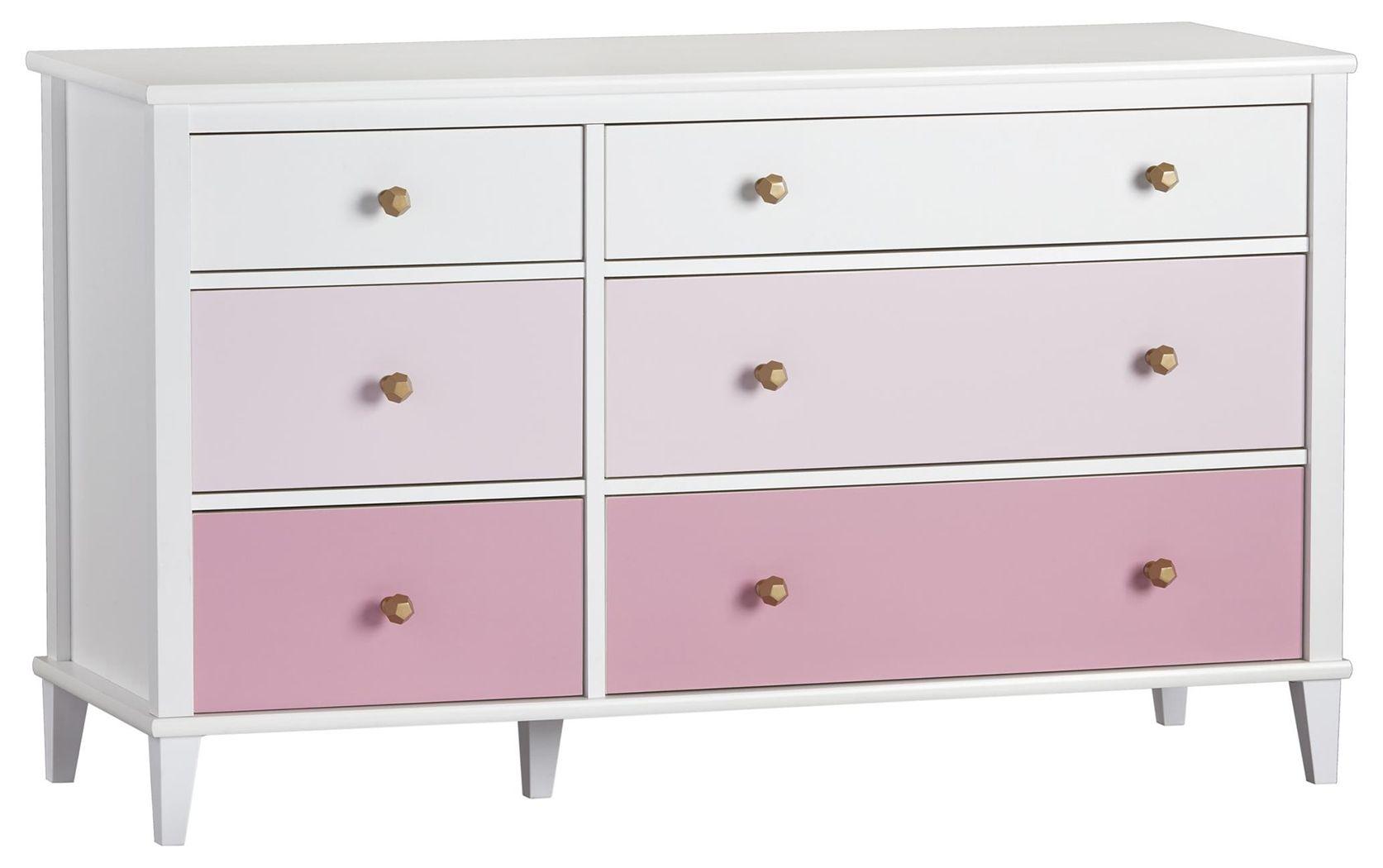 6 Drawer Dresser Pink Dresser Drawers 6 Drawer Dresser Shabby Chic Dresser [ 1050 x 1673 Pixel ]