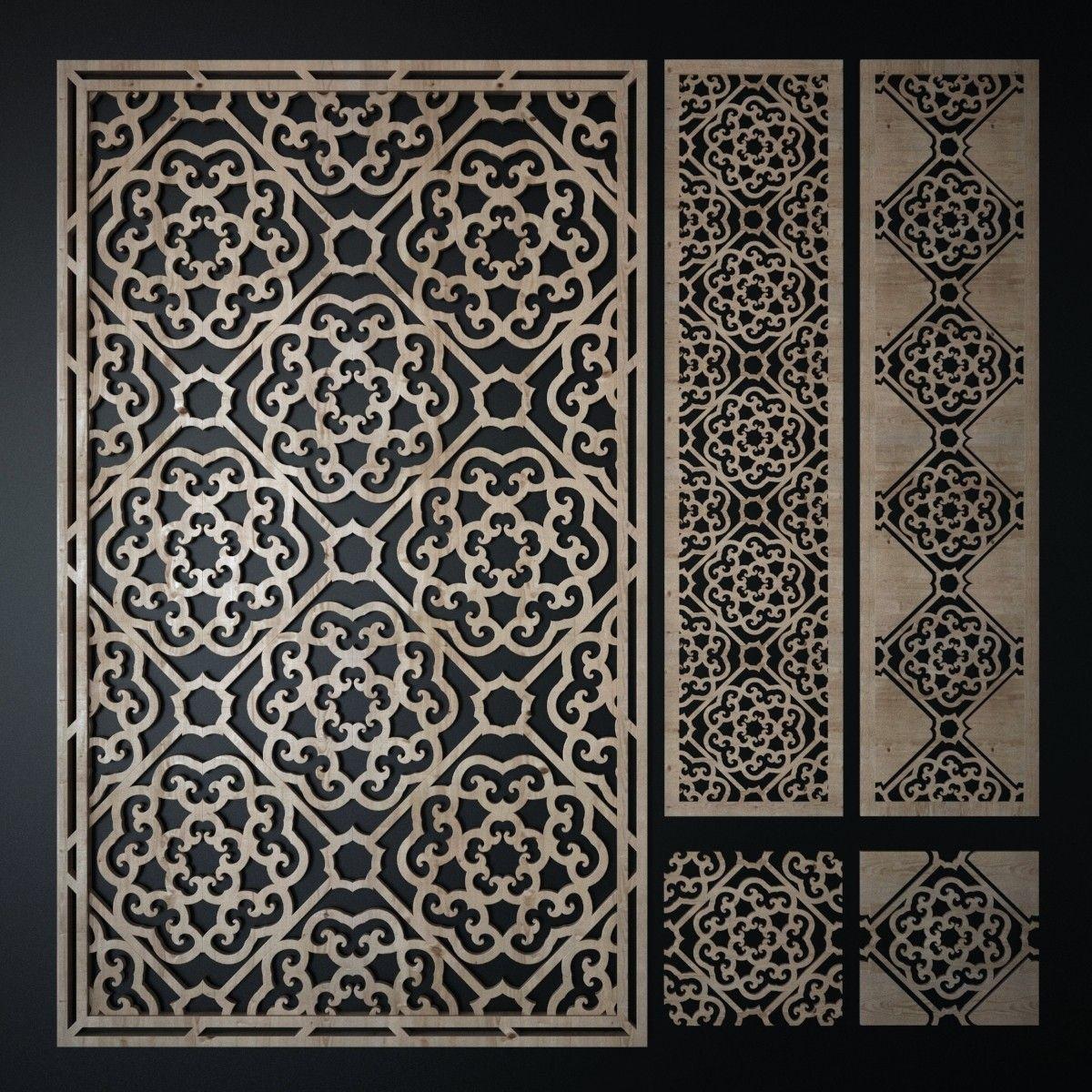 3d model decorative laser cutting pattern | Glowforge Idea\'s in 2018 ...