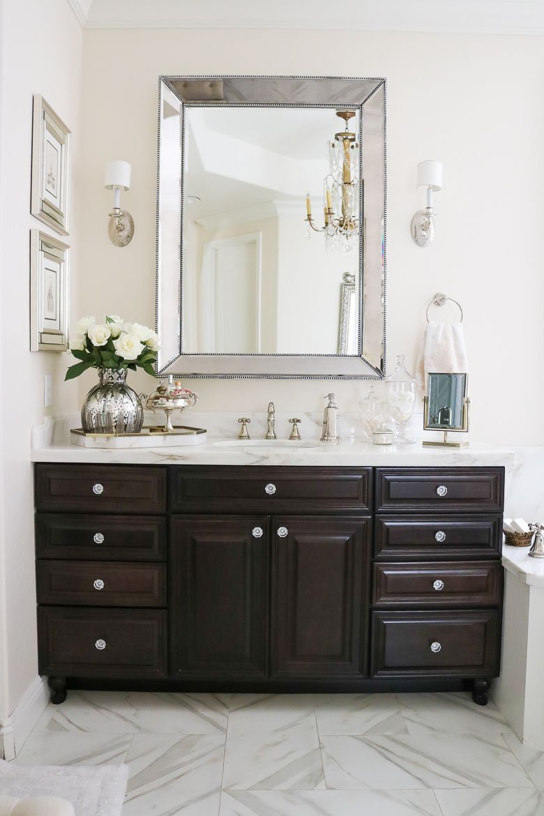 before and after photos elegant master bathroom remodel and tour ...