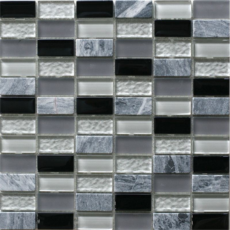 Floor Decor Ideas Lake Tile And More Store Orlando: Decor8 Tiles 300 X 300 X 8mm Grey Mix Linear Mosaic Tile I