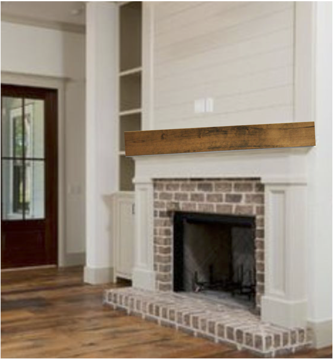 Final Choice For Mantle Home Fireplace Red Brick Fireplaces