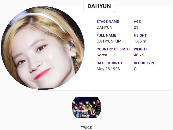 Dahyun Twice Profile Kpop Profiles Twice Profile