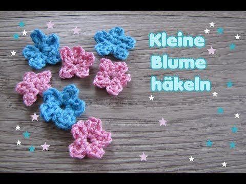 Kleine Blume häkeln | Kostenlose Häkel-Anleitungen | Pinterest ...