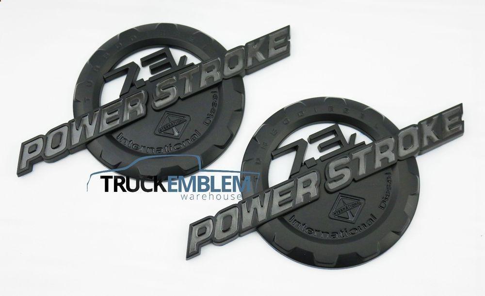 7 3 Powerstroke Star Delta Starter Wiring Diagram Phase International Emblems For Ford F 350 Custom F250 F350 Badges Set Ebay