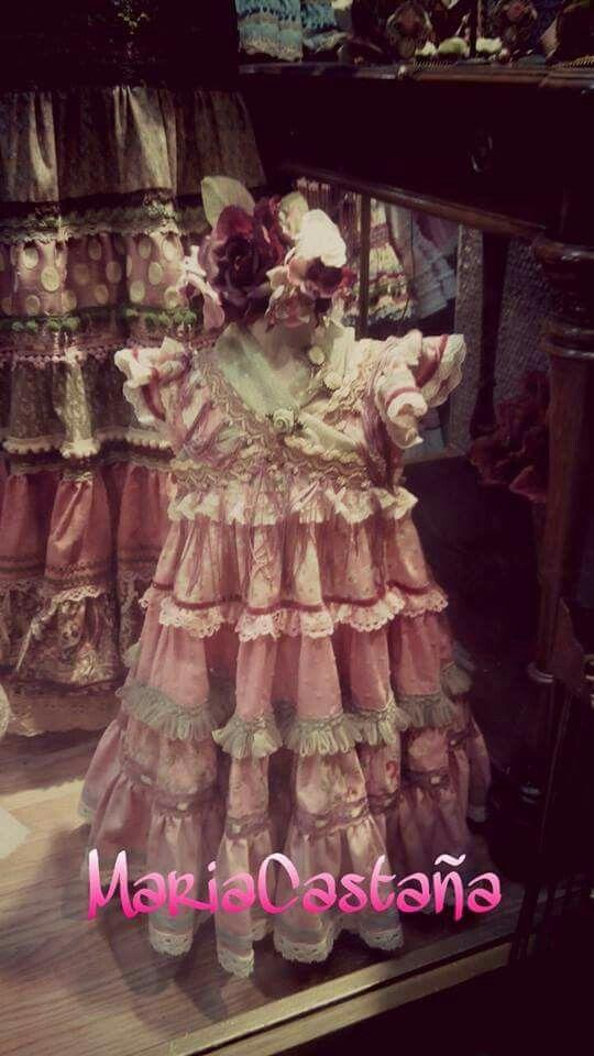 Maria Castaña 2015 Vestido Flamenco Niña Traje Flamenca Niña Trajes De Gitana