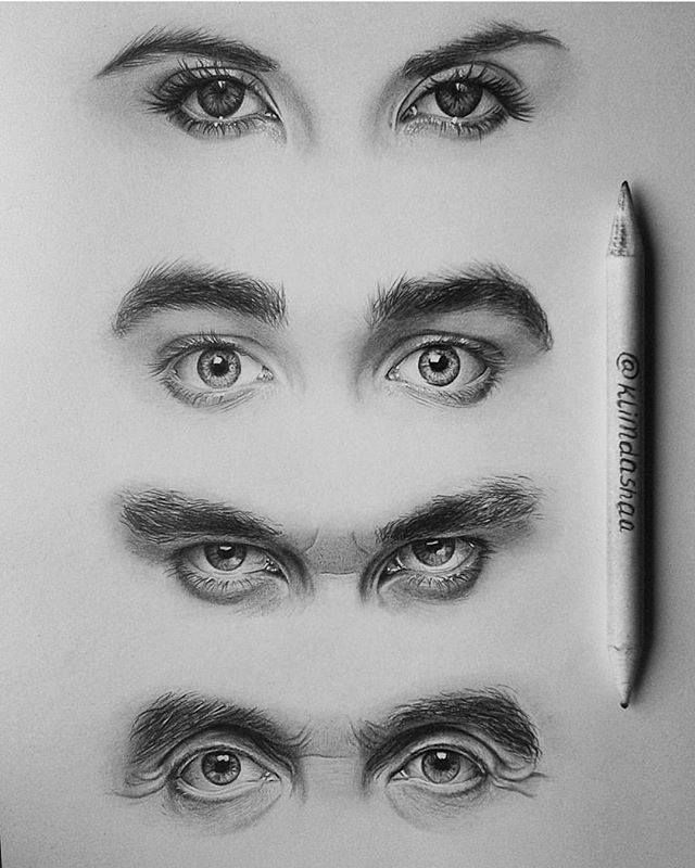 2 ways to draw eyes step by step wikihow realistic eye drawingcopic drawingseye