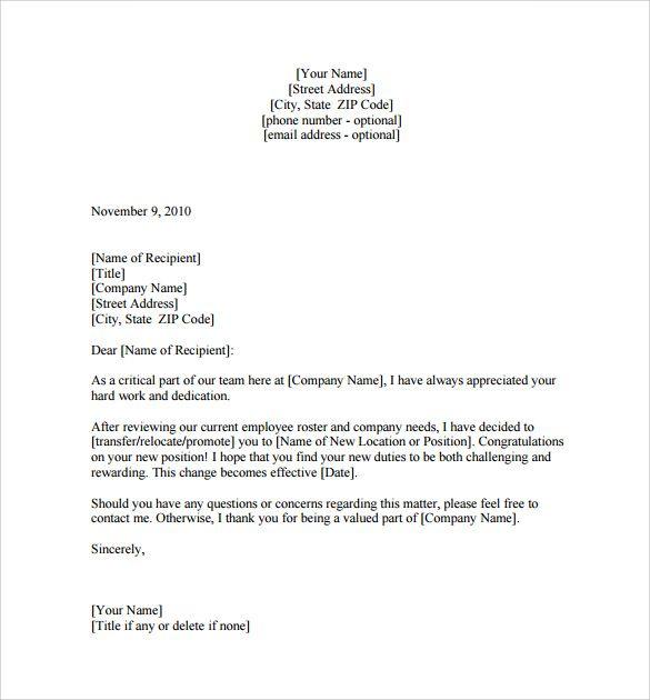 Sample Promotion Letter Download Free Documents Pdf Word Employee For Manager Lettering Download Lettering Letter Sample