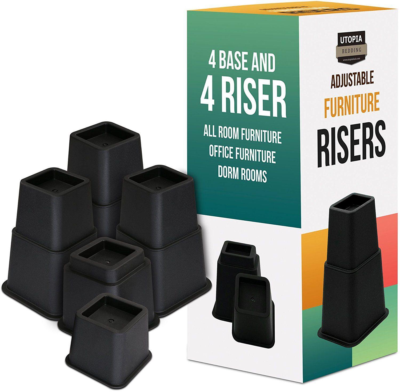 Best Amazon Com Premium Adjustable Furniture Risers 5 To 9 400 x 300