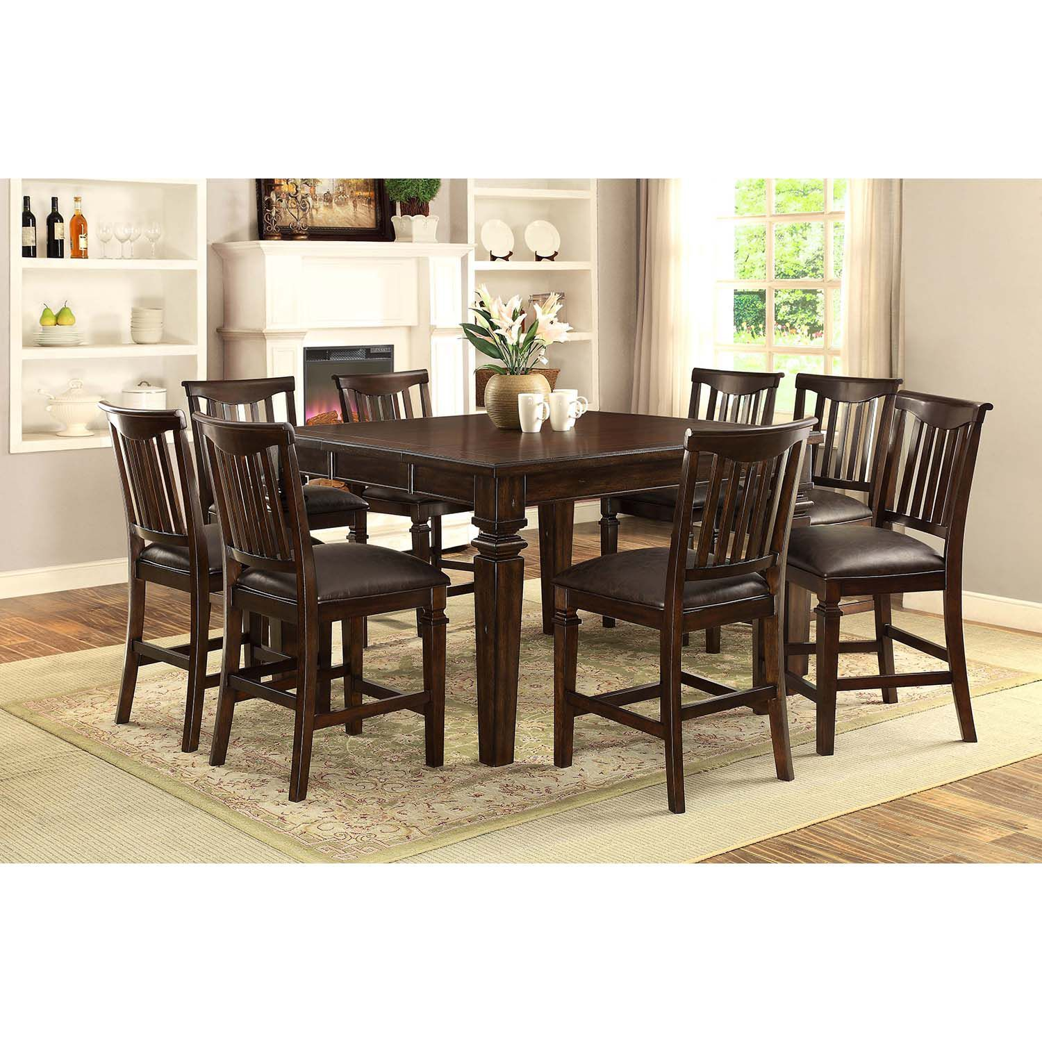 Vanderhill 9 Piece Dining Set Solid Wood Chairs Dining Dining Set