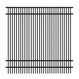Freedom Standard Sheffield Black Aluminum Decorative Fence Panel
