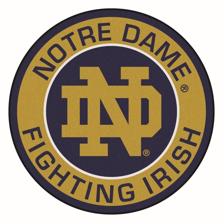 9 Ounce, 100 % Nylon Face. Recycled vinyl backing for a durable and longer-lasting product. Taped borders for added durability. Vacuum regularly and spot clean for any easy and quick clean. FANMATS Notre Dame Roundel Mat 27in. Diameter in Blue | 18628