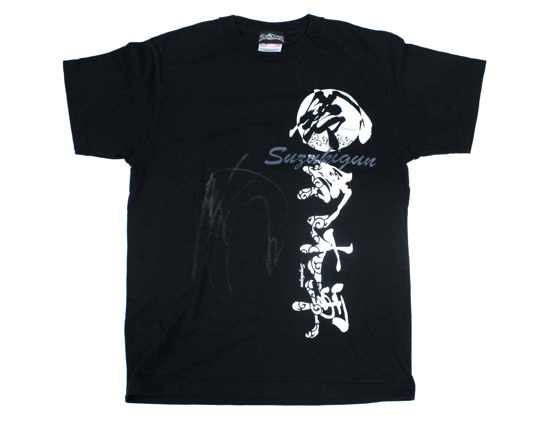 Minoru Suzuki Suzukigun T Shirt Medium Signed T Shirt Shirts Mens Tops