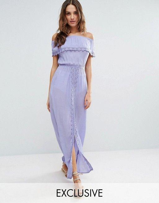 5870f1146b Akasa Off The Shoulder Ruffle Beach Dress   LOVE LOVE!   Beach dresses,  Crochet beach dress, Dresses