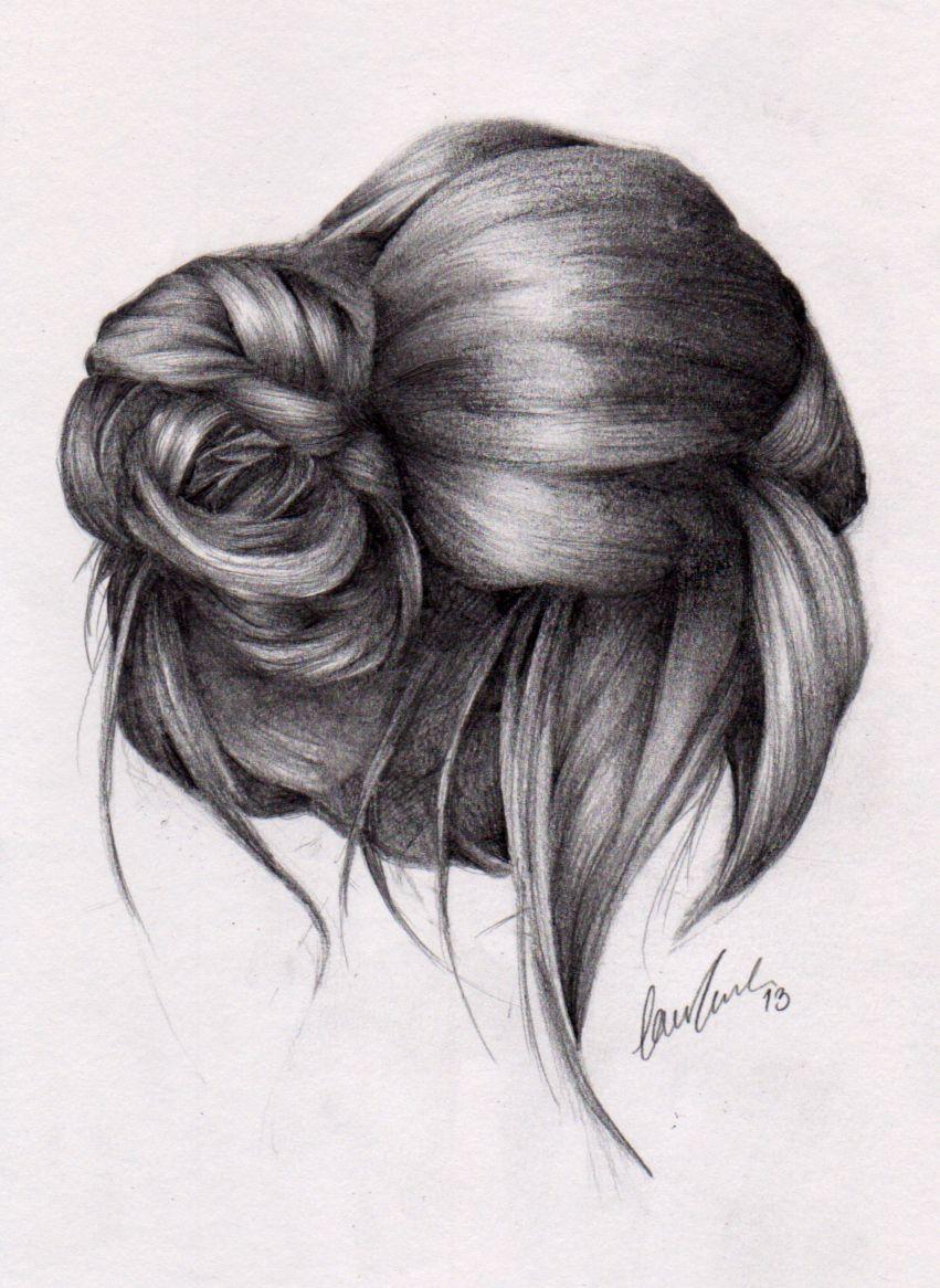 Messy Bun 2 By Lauragranholm On Deviantart Hair Sketch Art Drawings Sketches Simple How To Draw Hair