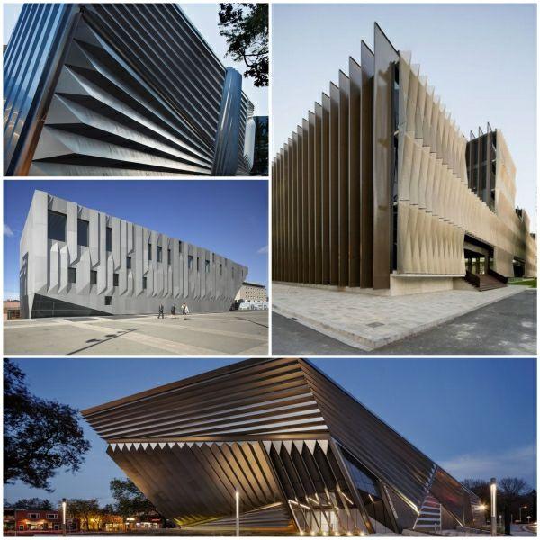 Moderne Hausfassaden moderne hausfassaden mit erstaunlichem plissee effekt