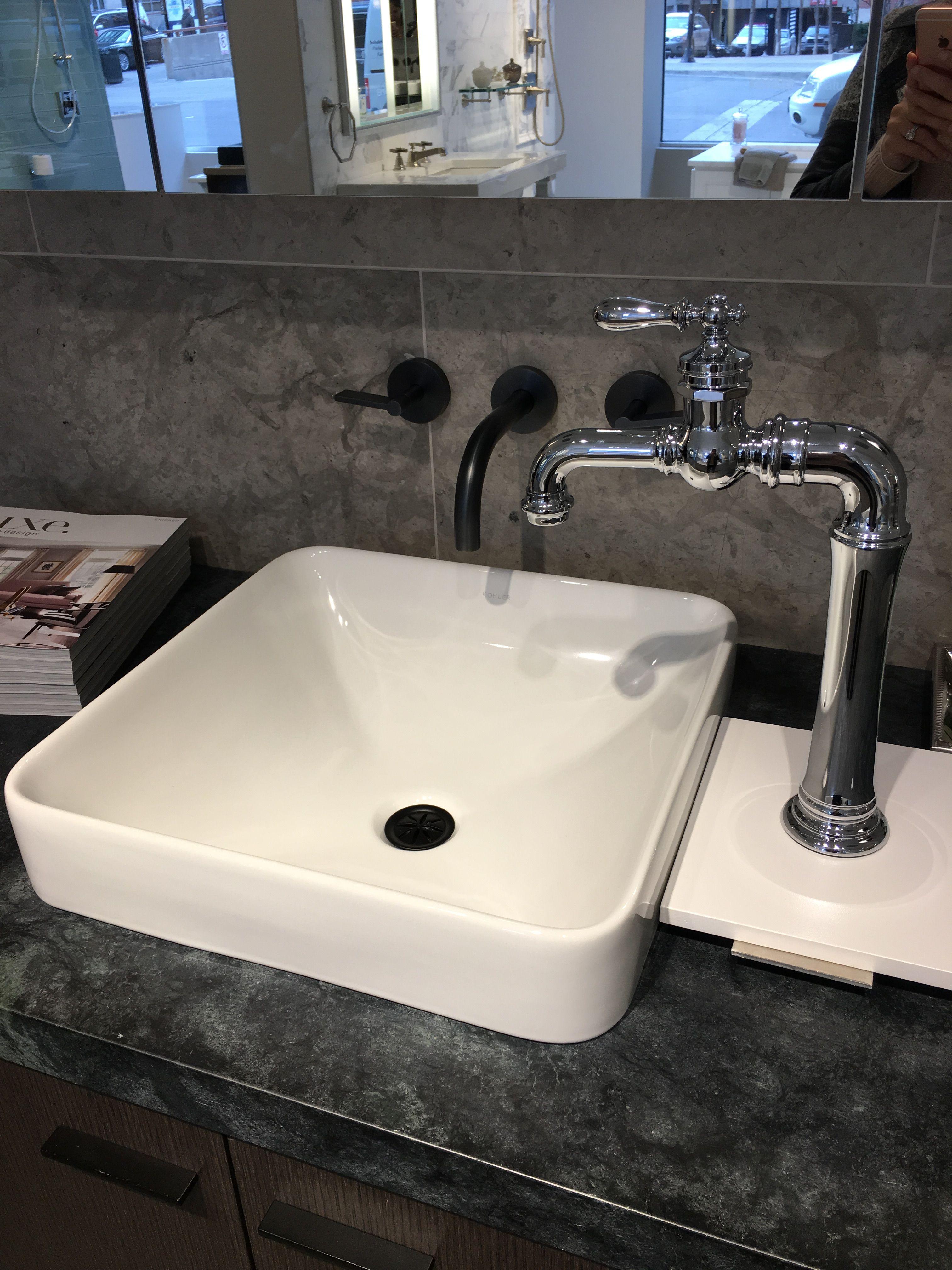 Master Bath: Kohler Vox sink & Artifacts Gentleman\'s bar sink faucet ...
