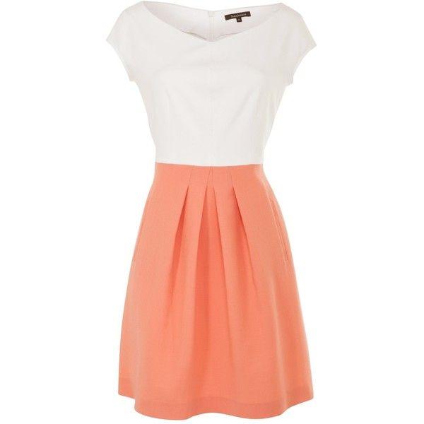Tara Jarmon Contrast Heavy Jersey Dress by None, via Polyvore