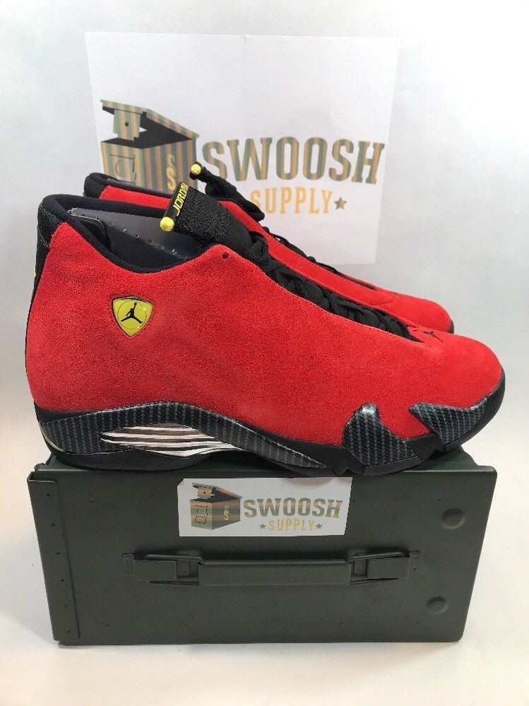 outlet store 6b32d 8dec6 Nike Air Jordan Retro 14 XIV Ferrari 654459-670 sz 13 #Nike ...