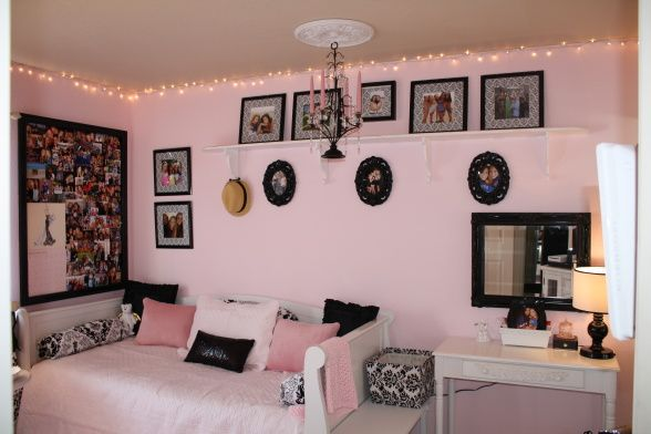 love the lights for a girls room!
