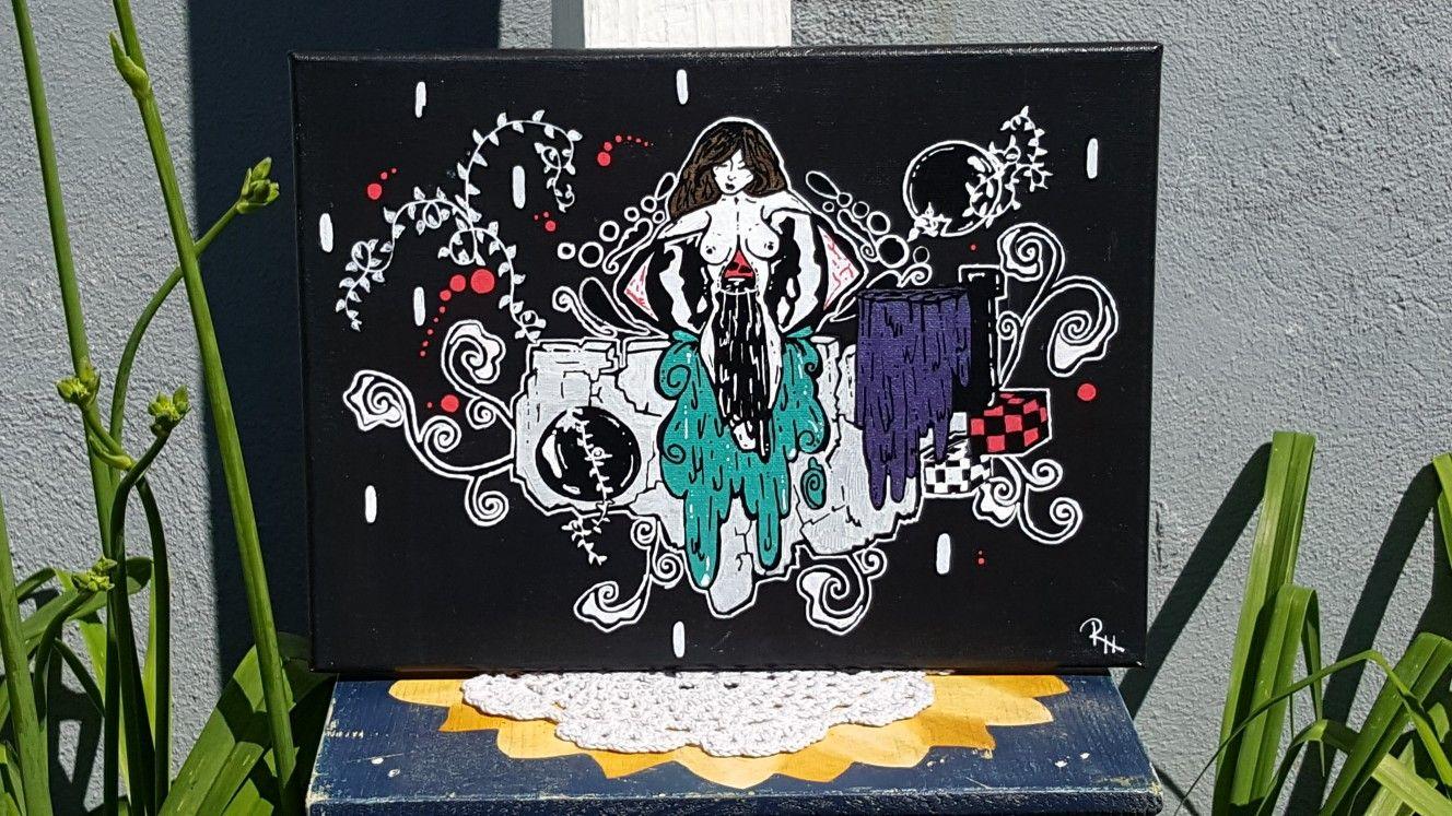 Zimmerwand graffiti x inch graffiti art on canvas tarot