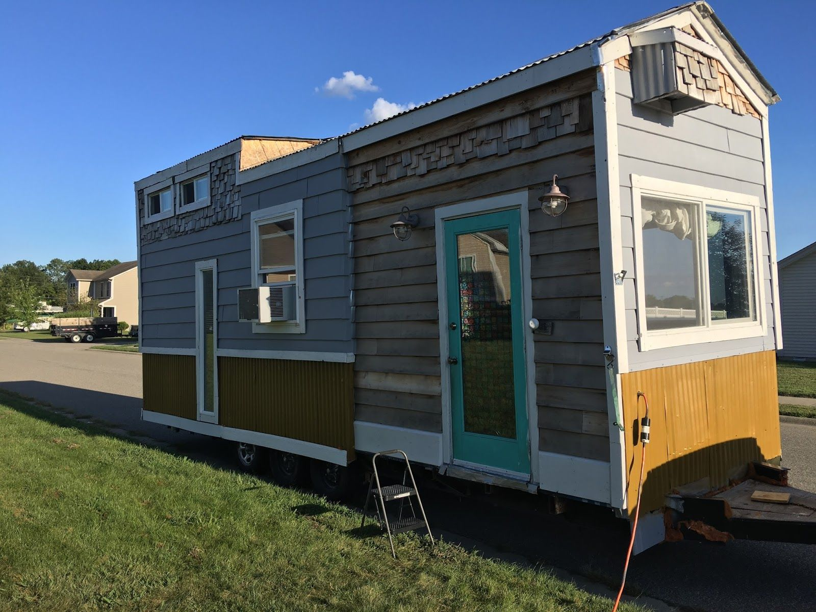A Tiny House In Southern Indiana With A Unique Look The Home Is Currently Available For Sale For 30 000 Tiny House Towns Tiny House Tiny Houses For Sale