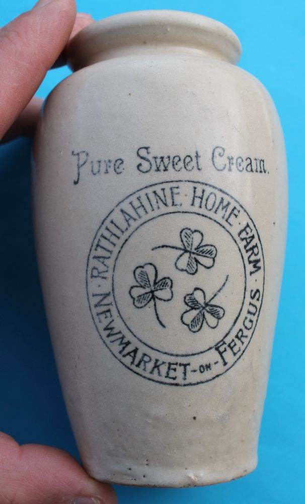 Pure Sweet Cream Rathlahine Home Farm Newmarket on Fergus Pot Jar