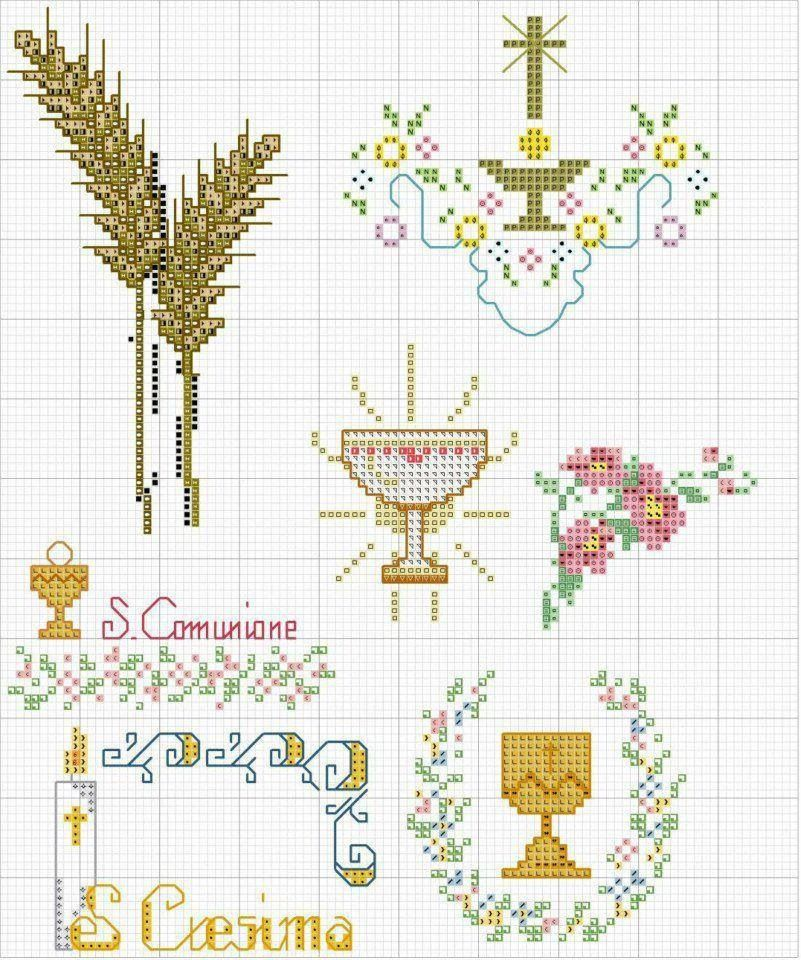 Cresima | bordado comunión y confirmación | Pinterest | Punto de ...