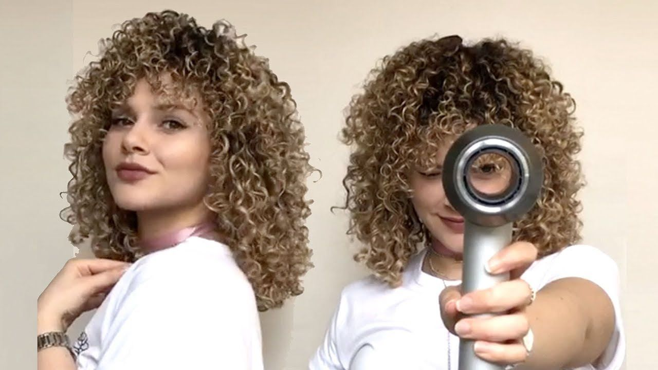 How To Diffuse Curly Hair Without Frizz Curly Hair Styles Hair Diffuser Curly Hair Tips