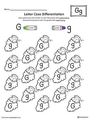 Preschool printable worksheets educational pinterest preschool use the letter case recognition worksheet letter g to help your preschooler to recognize the difference between the uppercase and lowercase a ibookread PDF