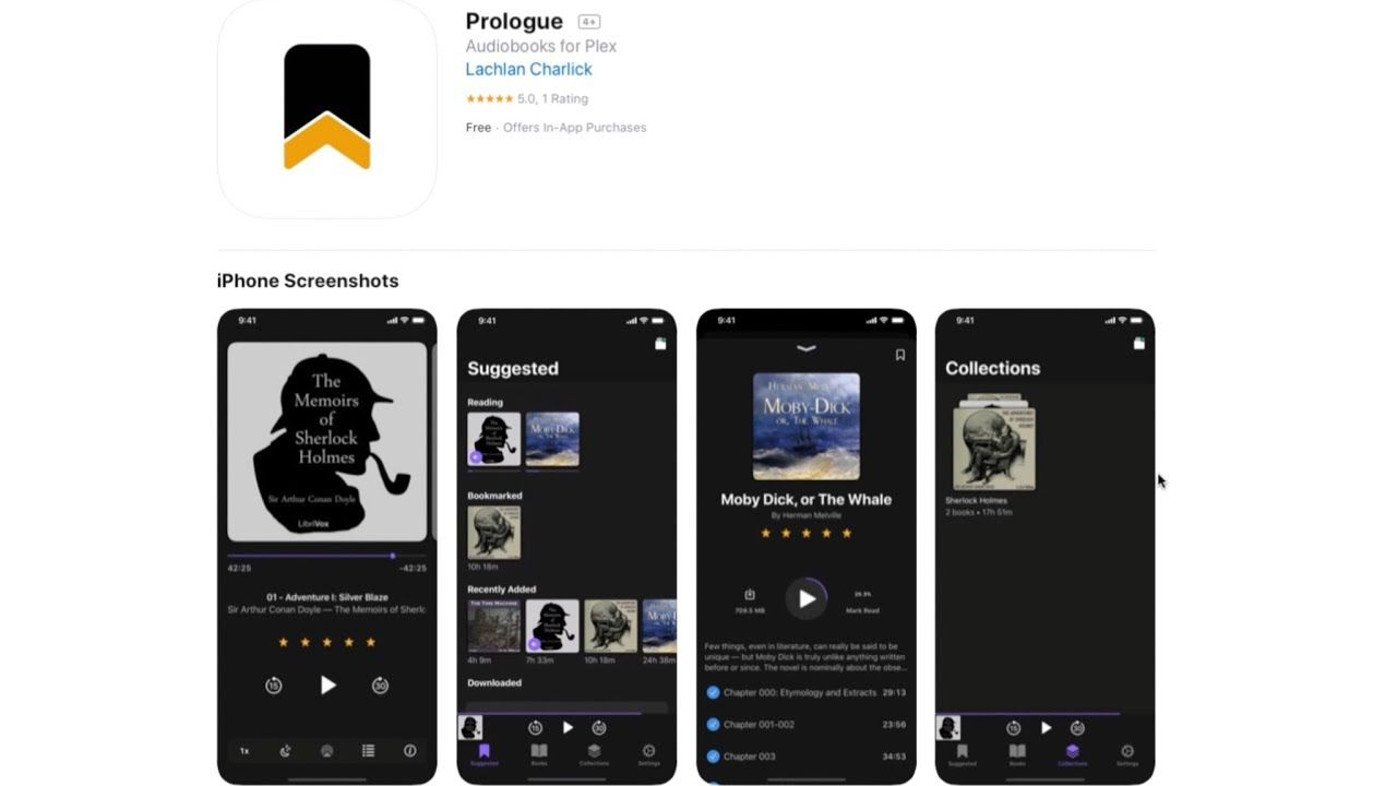 App Tip: Prologue an Audiobook app for Plex servers and iOS