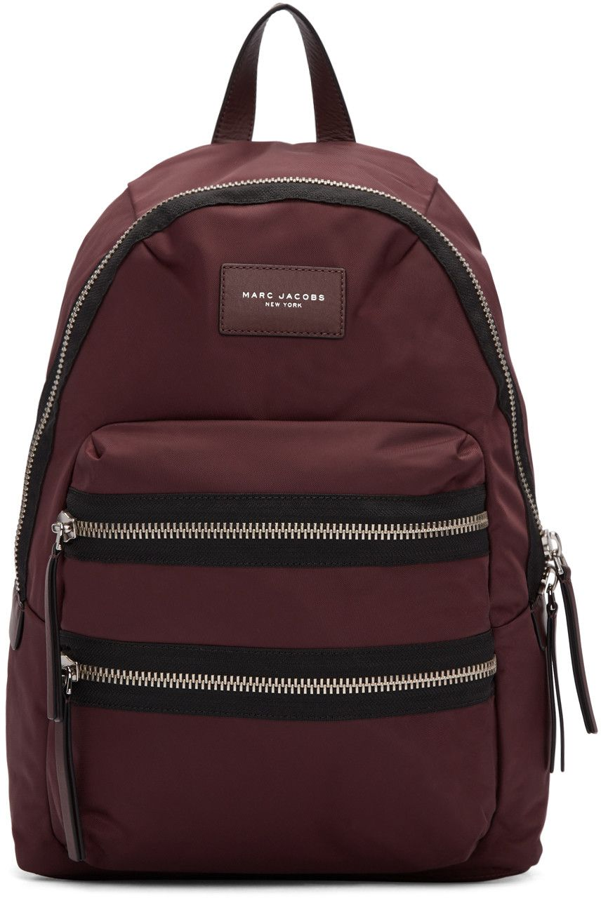 817a3274aa05 MARC JACOBS Burgundy Nylon Utility Backpack.  marcjacobs  bags  leather   lining  nylon  backpacks