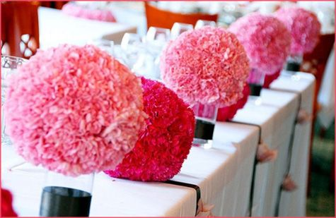 Purple Carnation Flower Ball Google Search Pink Wedding Decorations Carnation Centerpieces