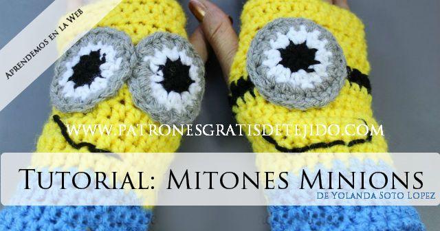 Como tejer guantes de minions paso a paso   Crochet y Dos Agujas ...