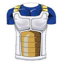 41b438930d Hombres 3D Dragon Ball Z camiseta Vegeta Goku Piccolo Super Saiyan Tee  Shirt Anime Character(China (Mainland))