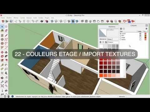 Tuto Dessiner sa maison avec SketchUp, chapitre #2  intérieur du0027une - Concevoir Sa Maison En 3d
