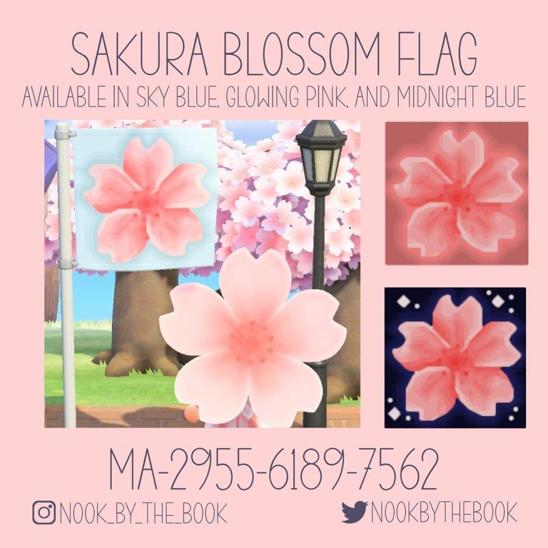 Made These Lovely Cherry Blossom Flags Comes In Three Color Variations Animalcrossing In 2021 Animal Crossing Qr Animal Crossing New Animal Crossing