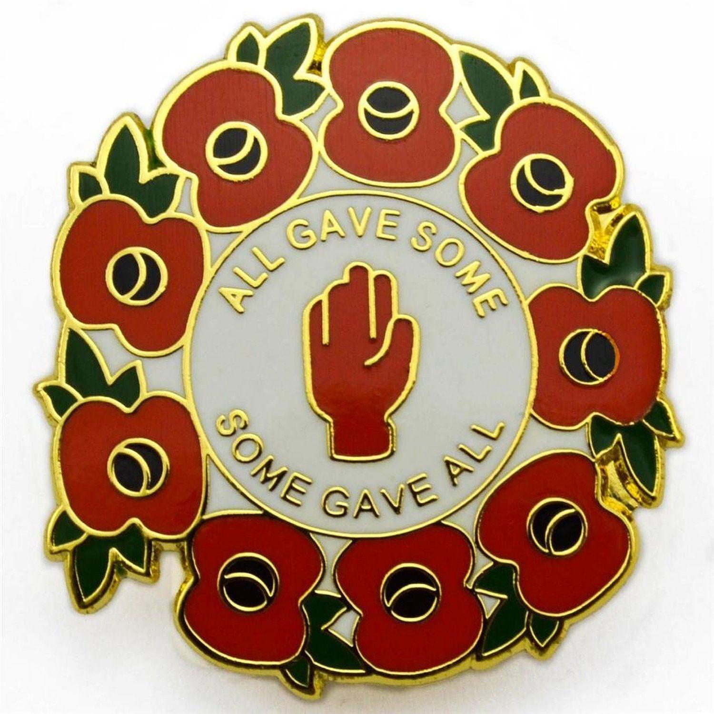 2019 Lest We Forget Poppy Wreath UK Military Red Poppy Enamel Pin Badge Brooch
