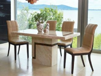 Filippo Marble Dining Set Rectangular Dining Table 120CMS With