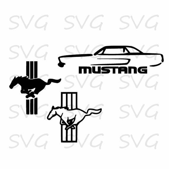 Ford Mustang Car Svg Dxf Eps And Png Ford Mustang Car Ford
