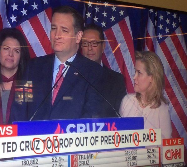 "As Ted Cruz Drops Out of Race, ""Zodiac Killer"" Trends Worldwide 