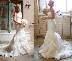 Mermaid Wedding Dresses, Elegant Wedding Dresses, White Wedding Dresses, Sweetheart Wedding Dresses, Zipper Wedding Dresses, Custom Wedding Dresses