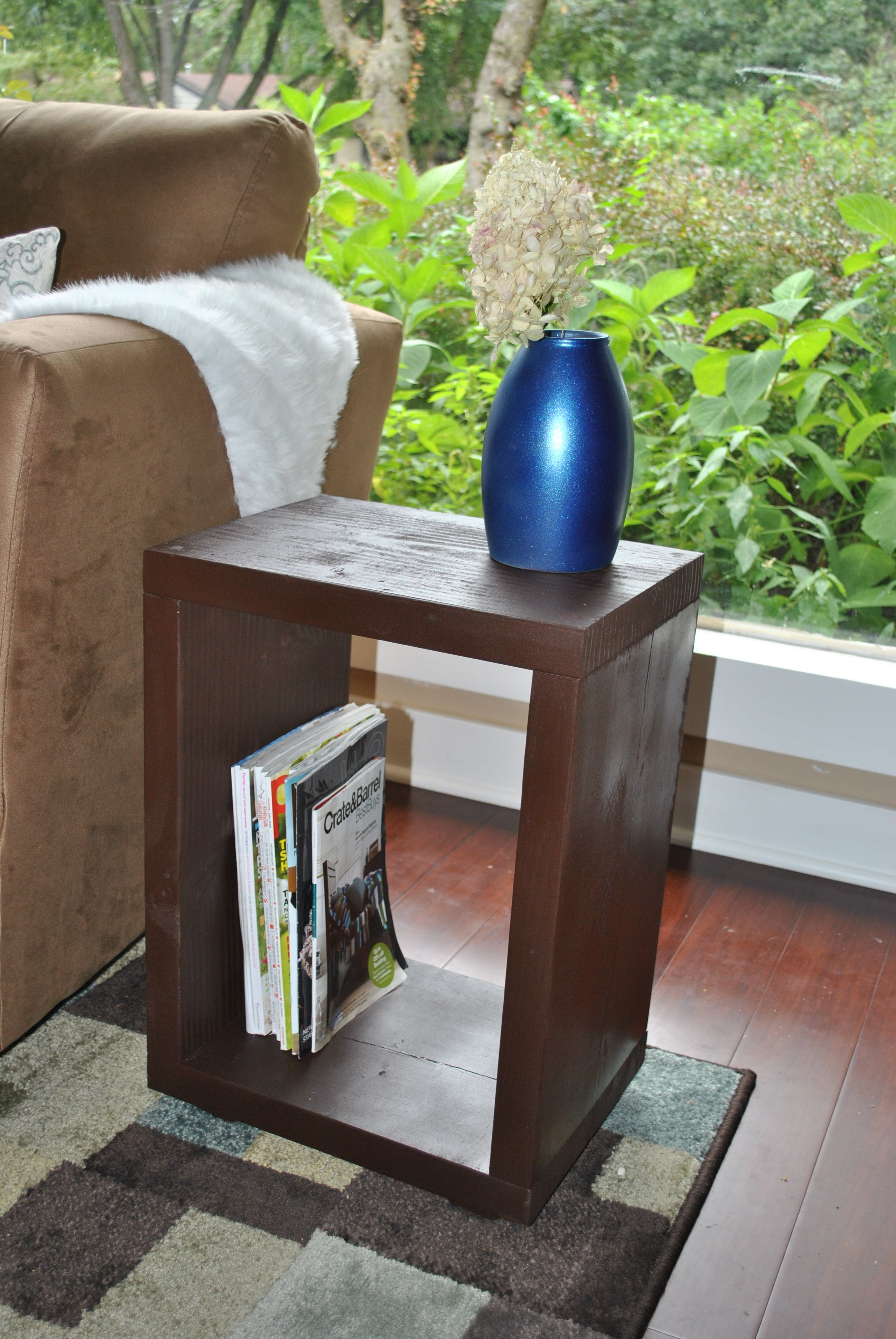 8 50 Modern Square End Table Diy End Tables Diy Table Decor
