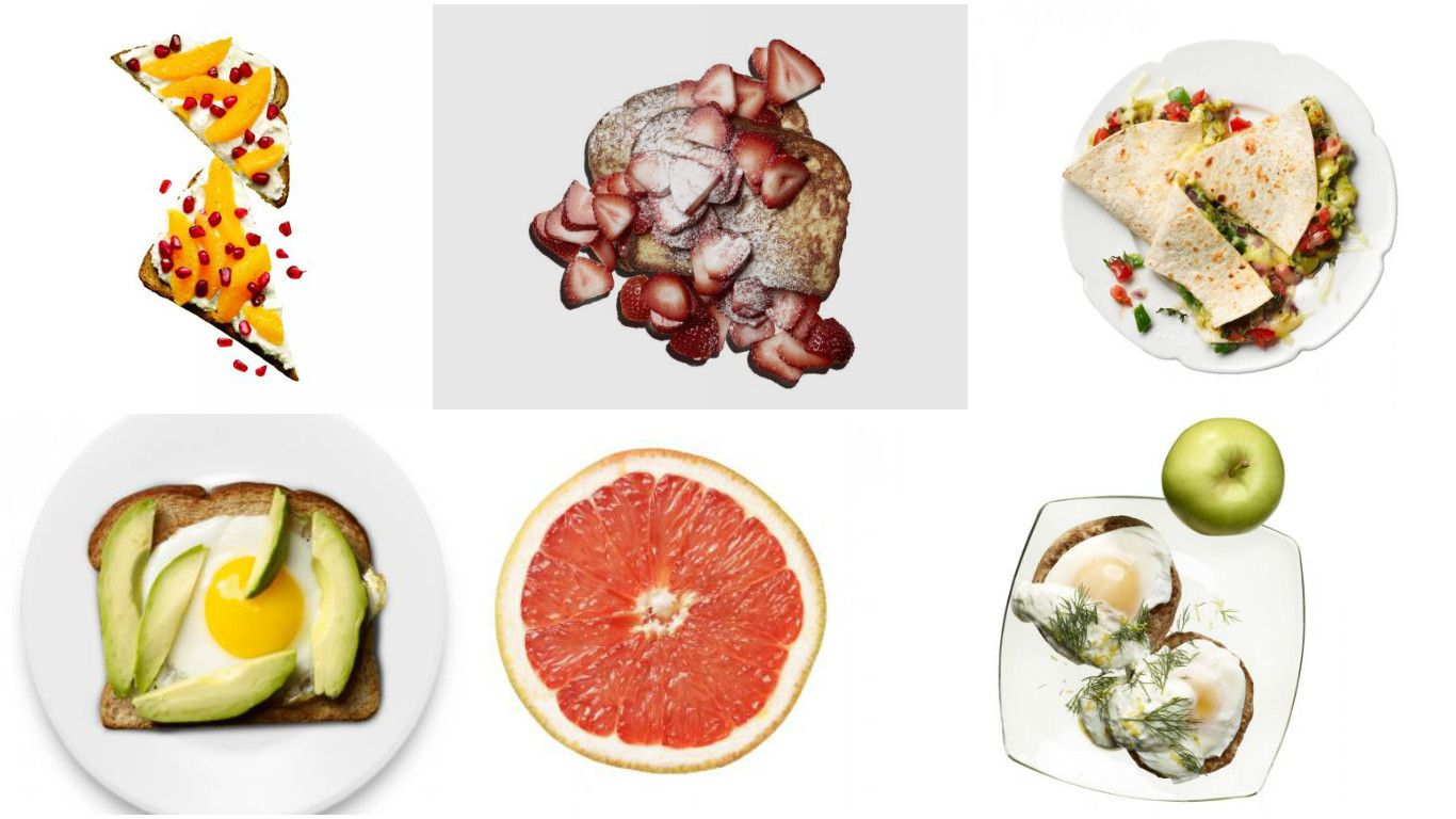 Shrink your waist without sacrificing taste with these 14 ideas for fat-burning breakfasts. Follow with a lunch and dinner and two snacks for a 1,500-calorie food plan to conquer hunger pangs and trim your tum.  1. Orange and pomegranate ricotta toast Spread 1...