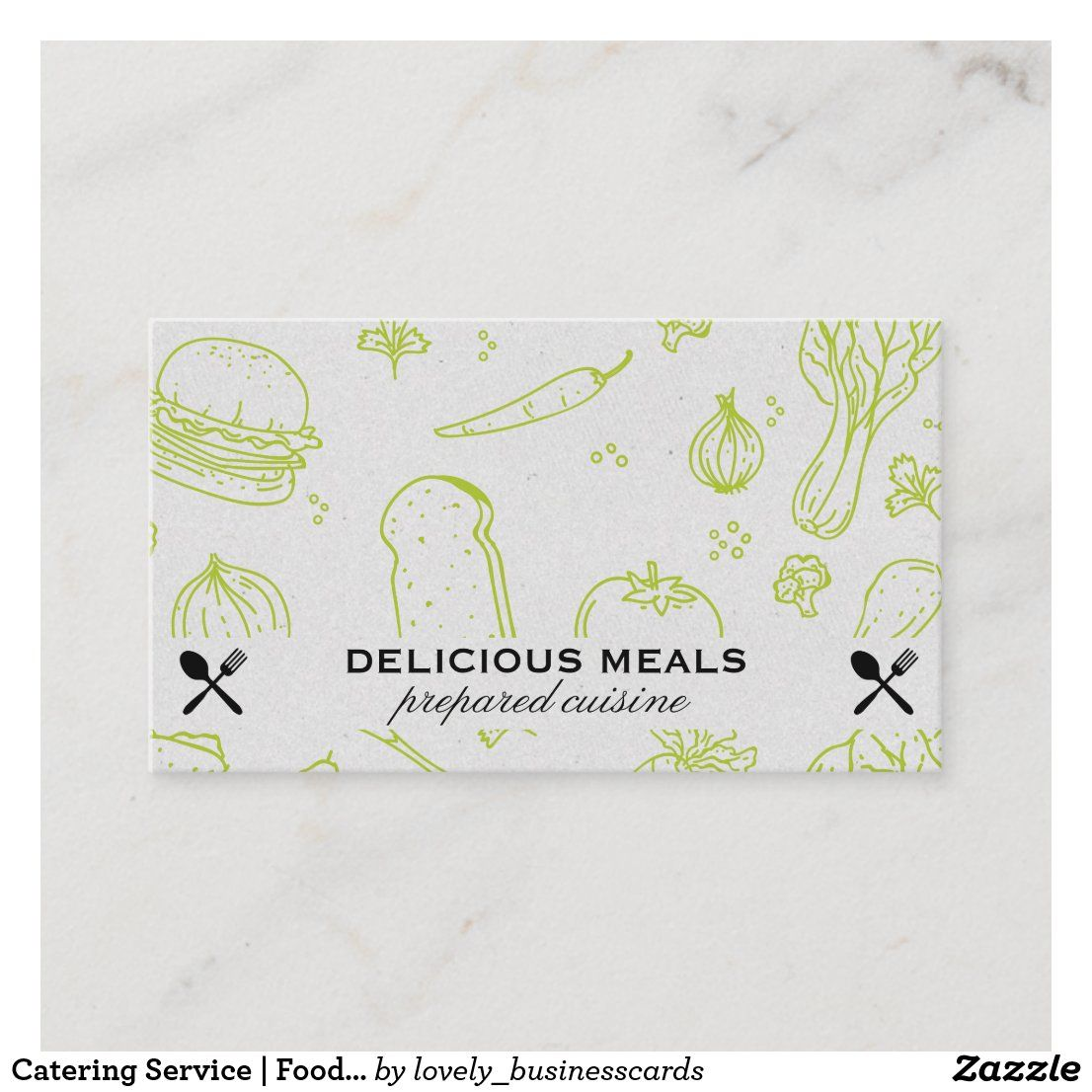 Catering Service | Food Pattern Business Card | Zazzle.com