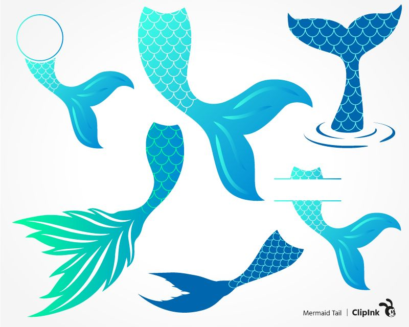 Mermaid Tail Svg Png Eps Dxf Pdf Poissons Sous L