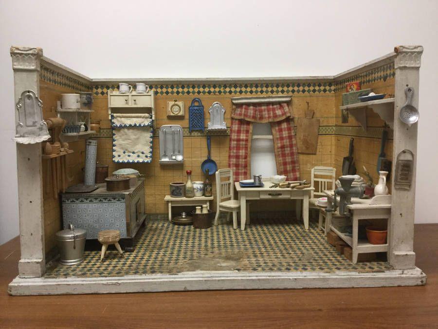 Mini Kitchen Room Box: Details About Antique Gottschalk For French Market