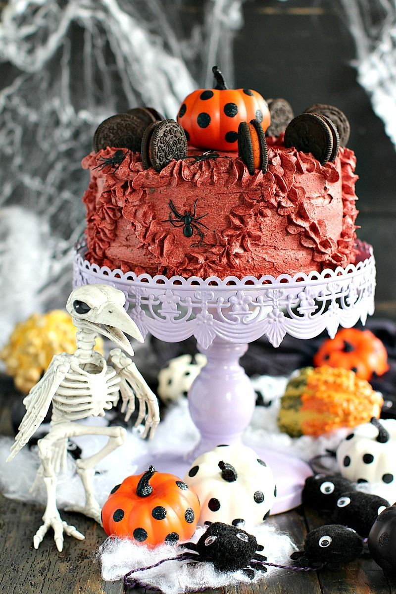 Halloween pumpkin oreo cake - #baking #cake #chips #chocolate #cooking #delicious #dessert #food #foodgasm #foodporn #halloween #holiday #oreo #oreos #photography #pumpkin #recipes #spice #sweet
