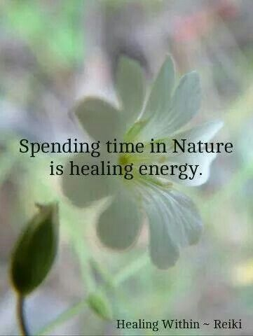 healing energy spending time in nature is healing energy