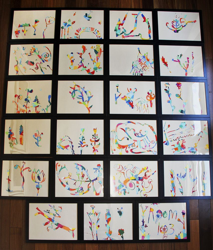 Mod podge project what a creative and easy paper collage for Easy art projects for adults